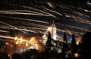 Easter Fireworks Battle on the Greek Island of Chios