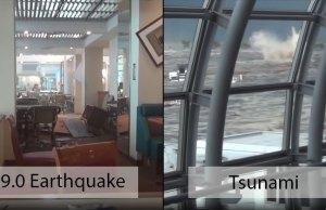 Sendai Airport During 9.0 Earthquake