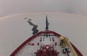 Icebreaker in Antarctica