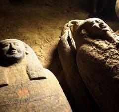 Ancient Egyptian Coffins In Saqqara