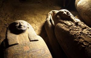 Ancient Egyptian Coffins In Saqqara