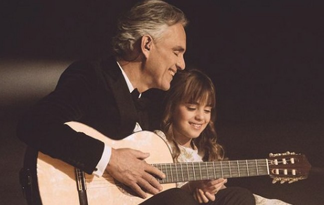 Andrea Bocelli and His Daughter