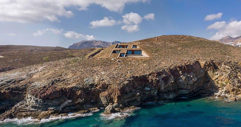 House Built Into a Cliffside