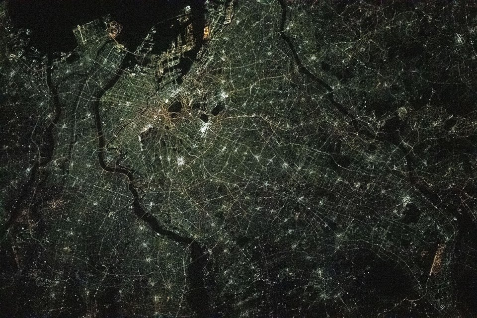 Tokyo at Night from the International Space Station