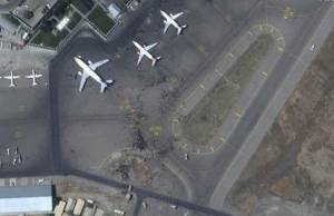Chaotic Aerial Photos Of Kabul Airport