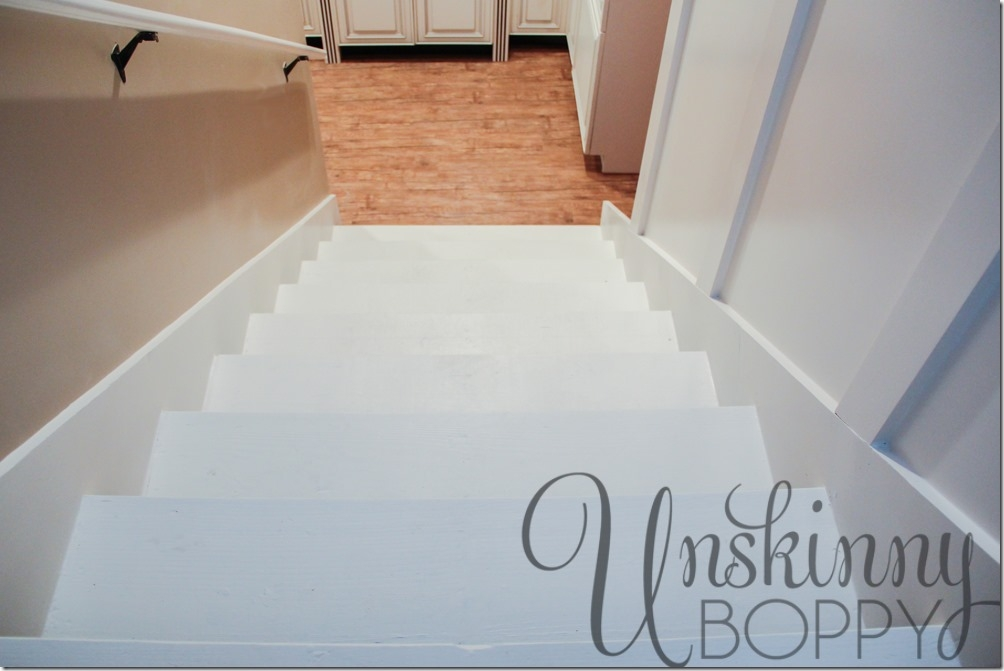 Our Basement Staircase Transformation Reveal From Concrete To   Replacing Old Basement Stairs   Stair Railing   Staircase Remodel   Staircase Railings   Stair Tread   Stair Risers