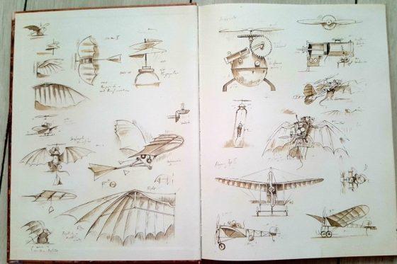 Secvență carte-schițe avion