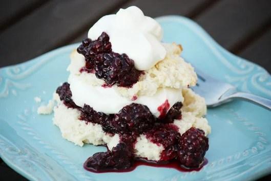 Easy Shortcake Recipe With Chunky Blackberry Sauce