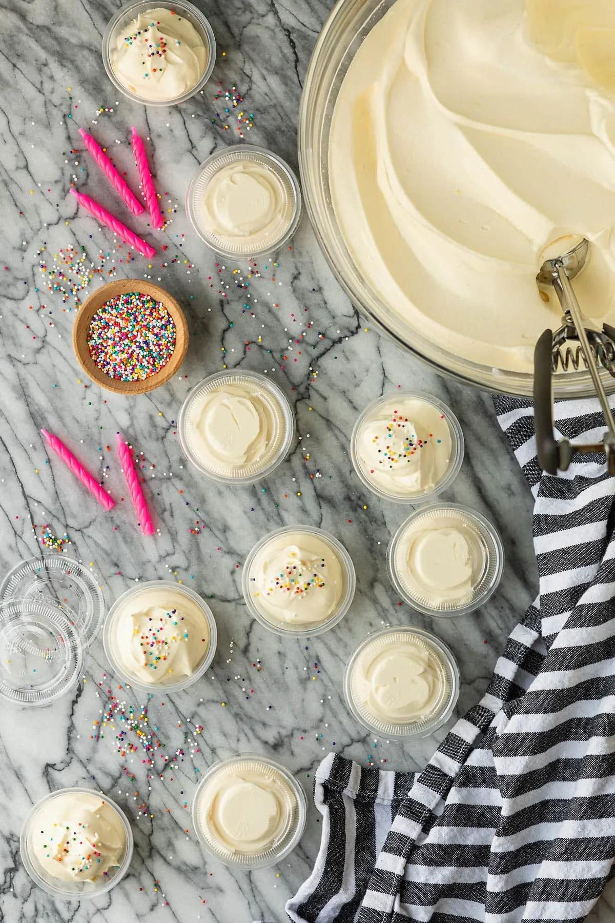 Funfetti Birthday Cake Pudding Shots Unsophisticook