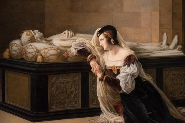 Philippe Coupin de la Couperie, Valentine de Milan au tombeau de son époux, 1822, musée de Blois.jpg