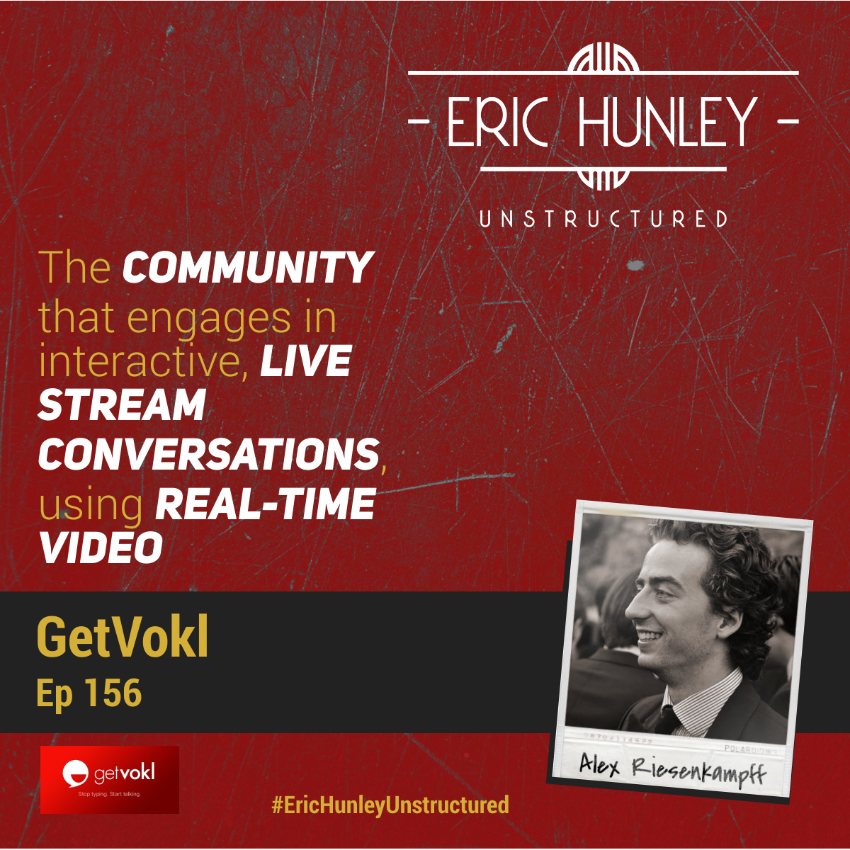 Eric Hunley Unstructured Podcast - 156 Alex Riesenkampff Square Post