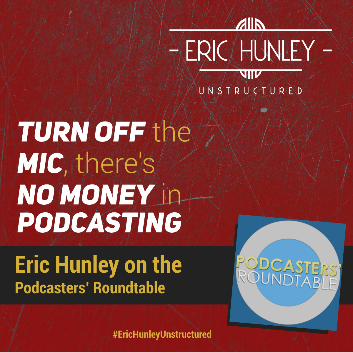 Eric Hunley Podcast Appearance Interviews - Podcasters' Roundtable Square Post
