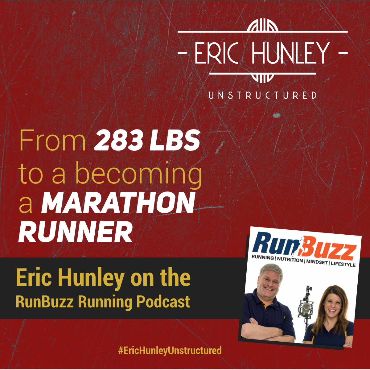 Eric Hunley Podcast Appearance Interviews - RunBuzz Running Podcast Square Post