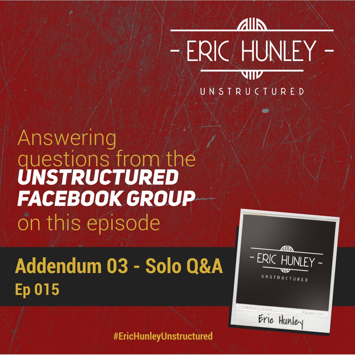 Eric Hunley Unstructured Podcast - 015 Addendum 03 Square Post