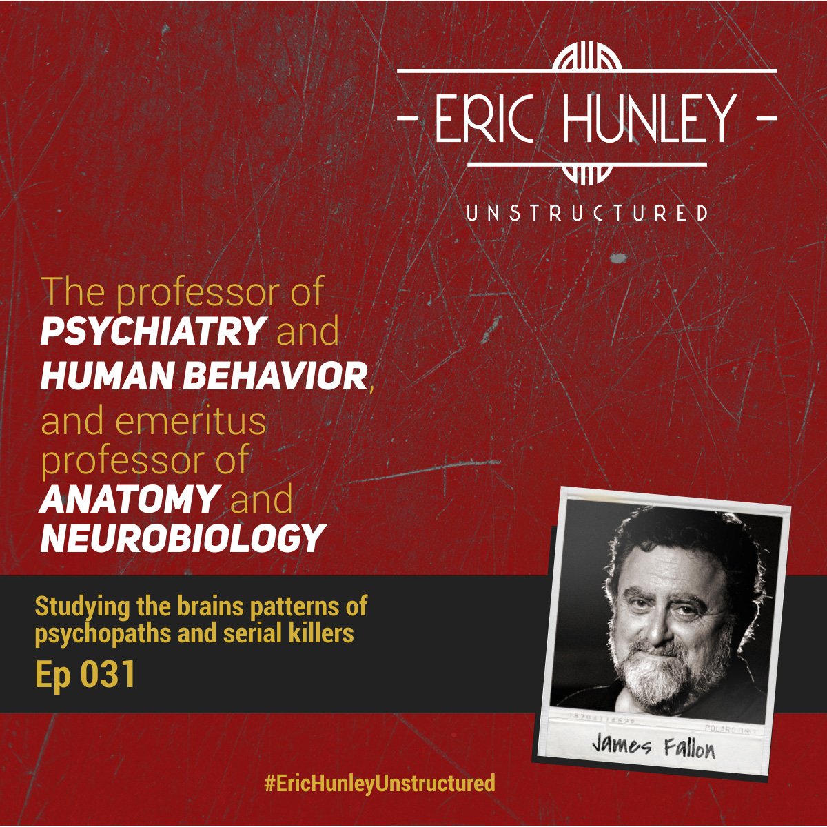 Eric Hunley Unstructured Podcast - 031 Professor James Fallon Square Post