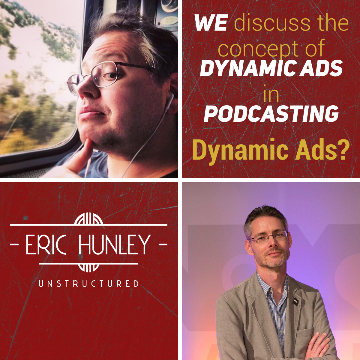 Eric Hunley Unstructured Podcast - 164 Jason DeFillippo and James Cridland Square Post