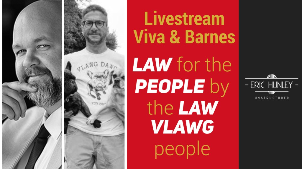 Eric Hunley Unstructured Live Stream Interviews - Viva & Barnes Face YouTube Thumbnail