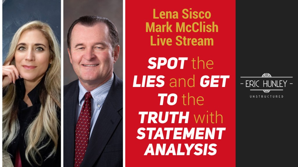 Eric Hunley Unstructured Live Stream Interviews - Lena Sisco and Mark McClish YouTube Thumbnail