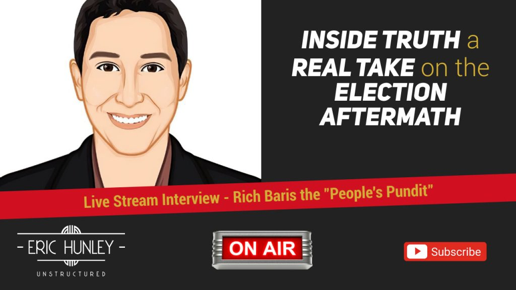 Eric Hunley Unstructured Live Stream Interviews - Rich Baris YouTube Thumbnail