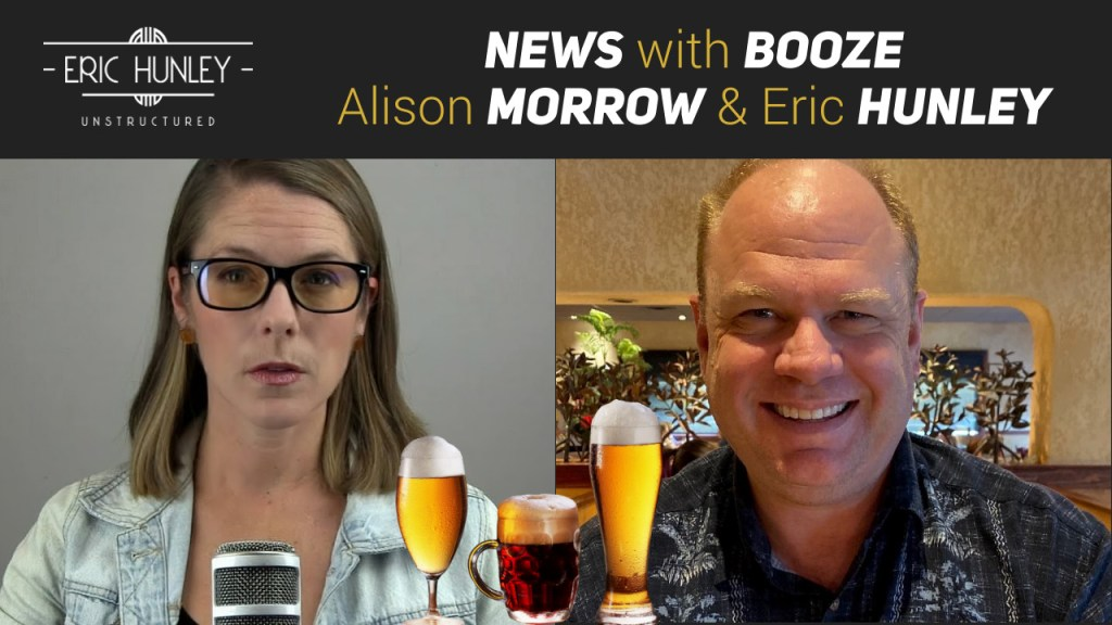 Eric Hunley Unstructured Live Stream Interviews - News with Booze Alison Morrow Live Stream Pinterest