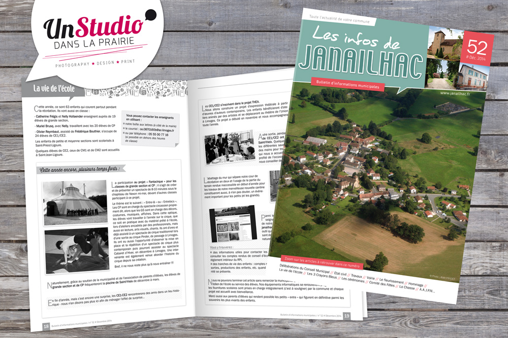 Client : Mairie de Janailhac // Conception bulletin municipal 32 pages