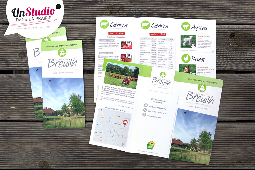 print, flyer, ferme, janailhac, communication, graphiste, limoges, clermont