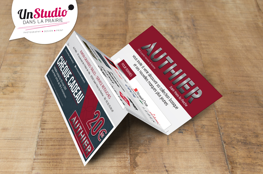 Client : Boutique Authier (St Yrieix la Perche) // Création d'un flyer promotionnel