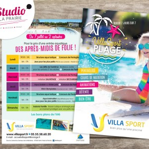 Client : Villa Sport  // Conception flyer