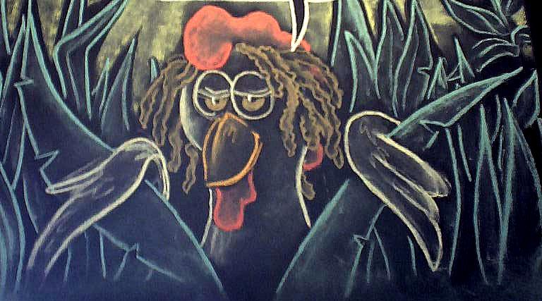 Jerk Chicken Chalk Board