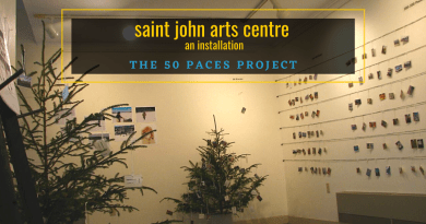 The 50 Paces Project Installation at the Saint John Arts Centre