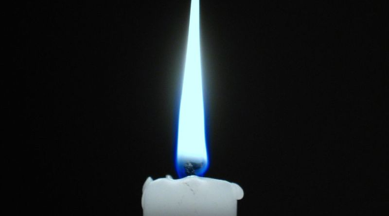 blue flame candle