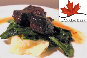 Chef Matt Kantor's Honey-Braised Short Ribs with parsnips and dandilion