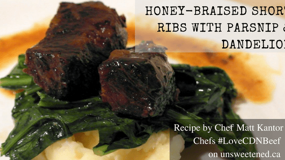 Matt Kantor's honey-braised Short Ribs Recipe