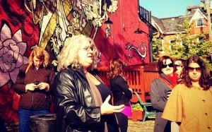 Alexa Clark leading Kensington Market Tour photo by Krista House