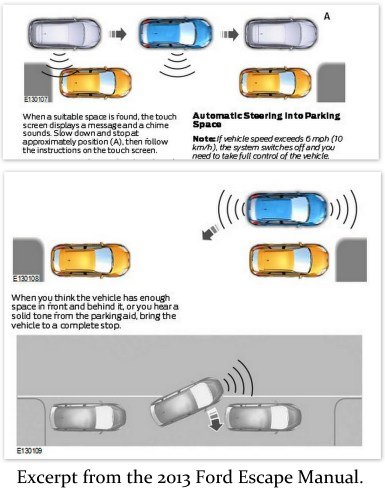 Ford Active Park Assist Diagram