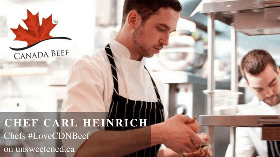 Chef Carl Heinrich in Chefs #LoveCDNBeef
