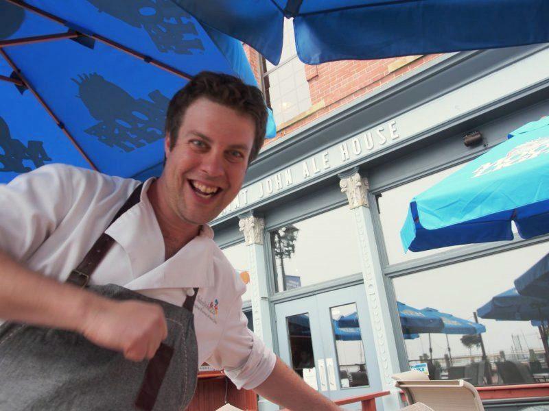 Chef Jesse Vergen at the Saint John Ale House Patio