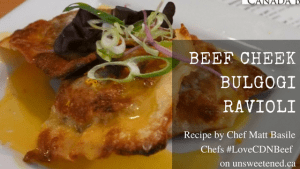 Matt Basile's Beef Cheek Bulgogi Ravioli
