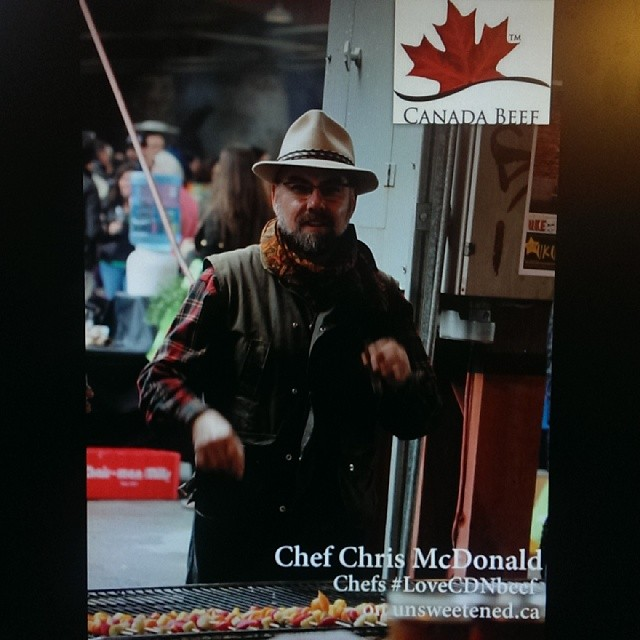 Chef Chris McDonald in Chefs #LoveCNDBeef