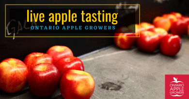 Ontario Apple Tasting sponsored by the Ontario Apple Growers