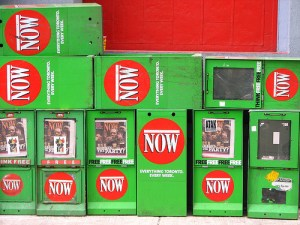 Now Magazine Dispensers