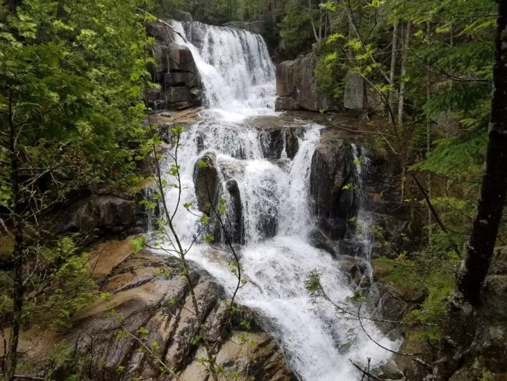 Katahdin Stream Falls in Baxter State Park, Maine.