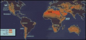 Deserts Of The World Map Untamed Science