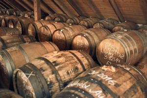 Whisky-Lager von Spreewood: Vermählung mehrerer Fässer.