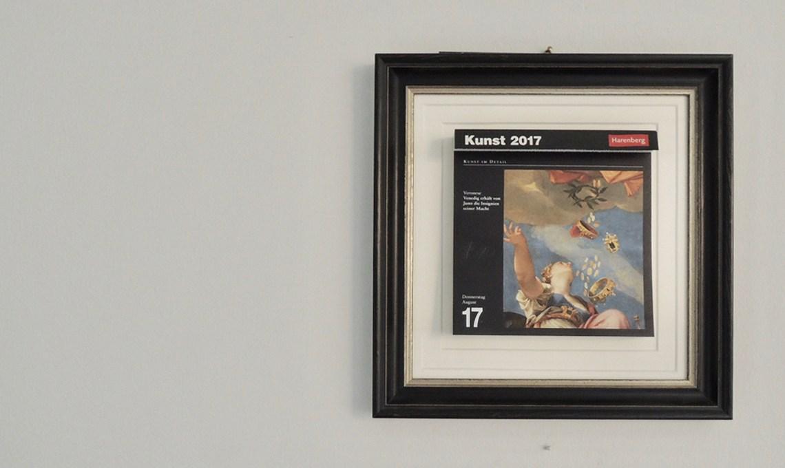 Kunstkalender im Rahmen
