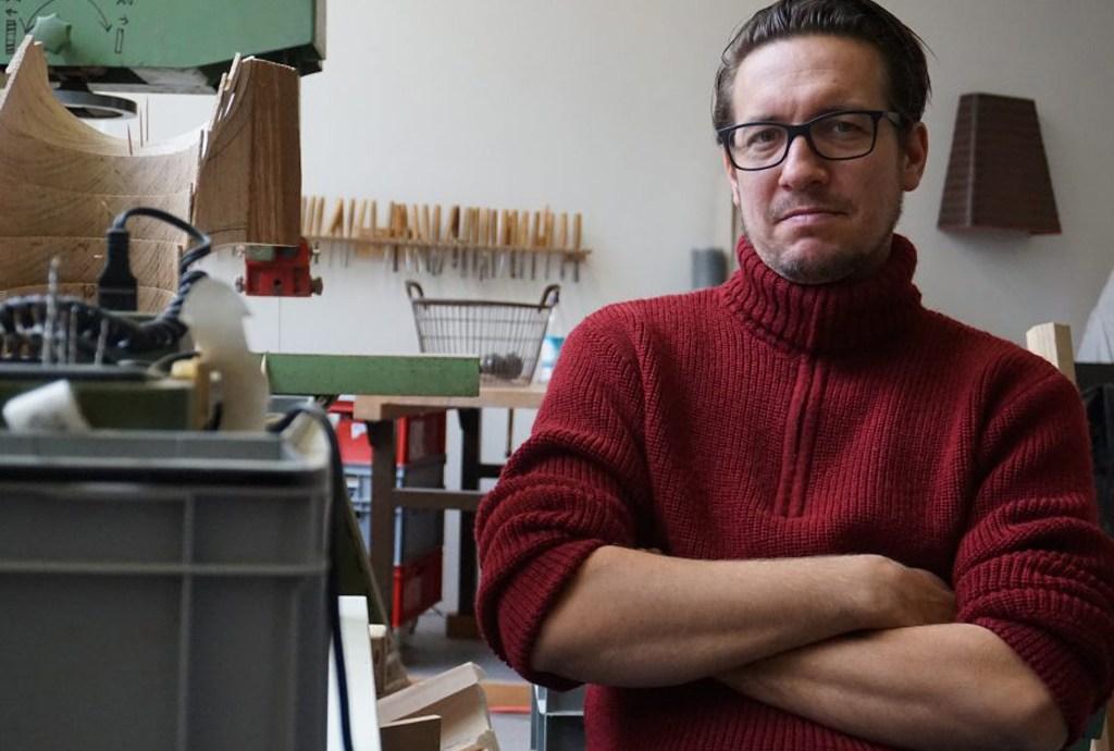 Thomas Breitenfeld in seinem Atelier