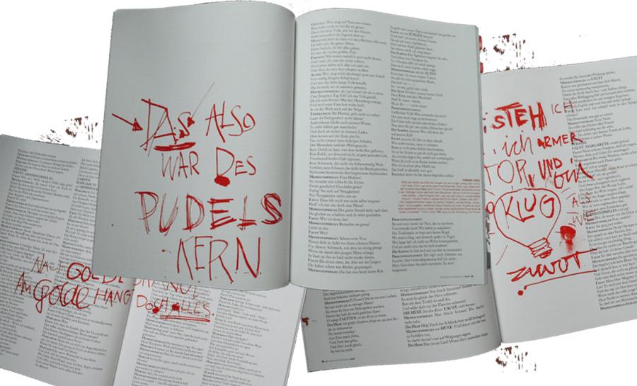 Collage Das Buch als Magazin Faust