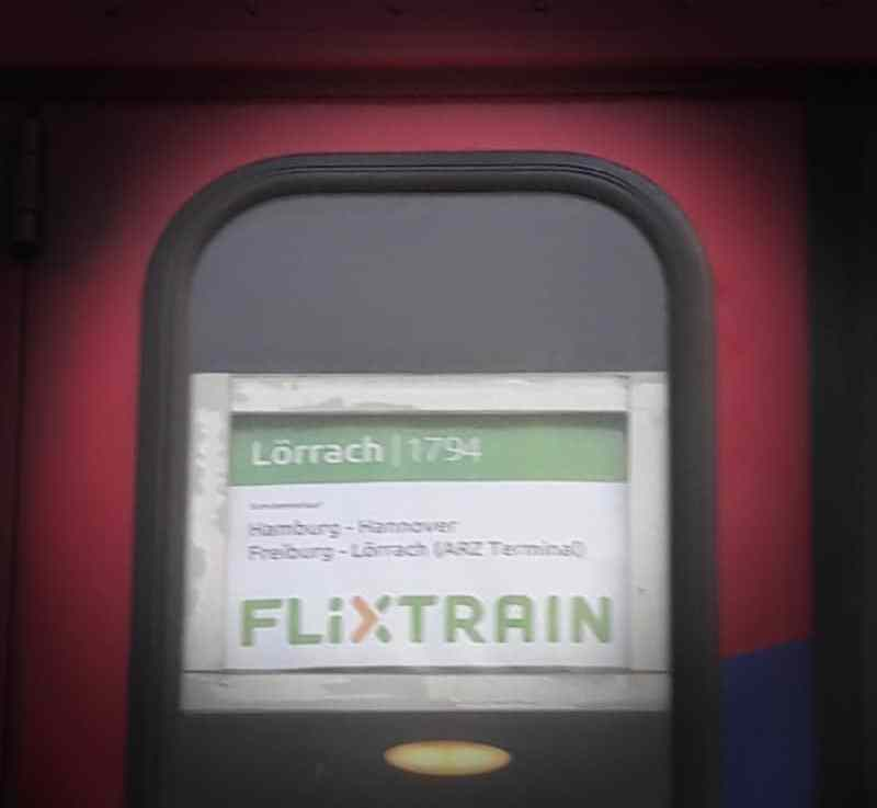 Flixnight mit dem Zug von Lörrach nach Hamburg