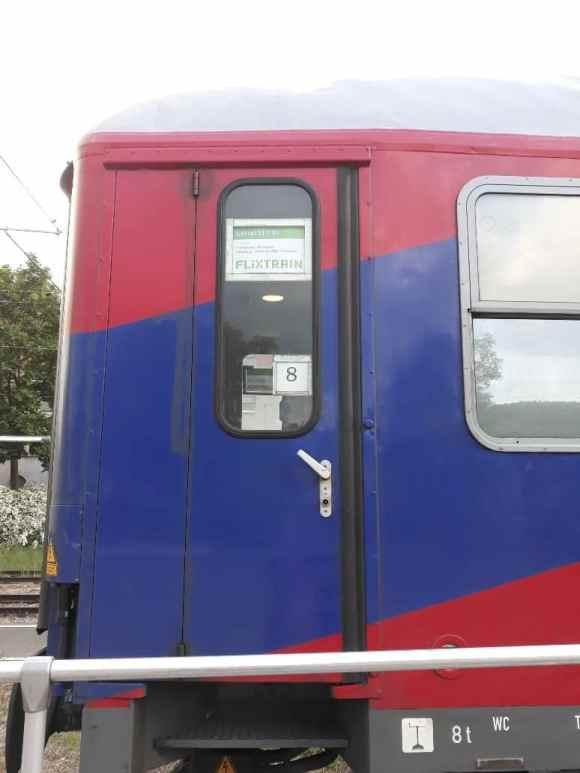 Der Flixtrain Wagon am BTE-Zug