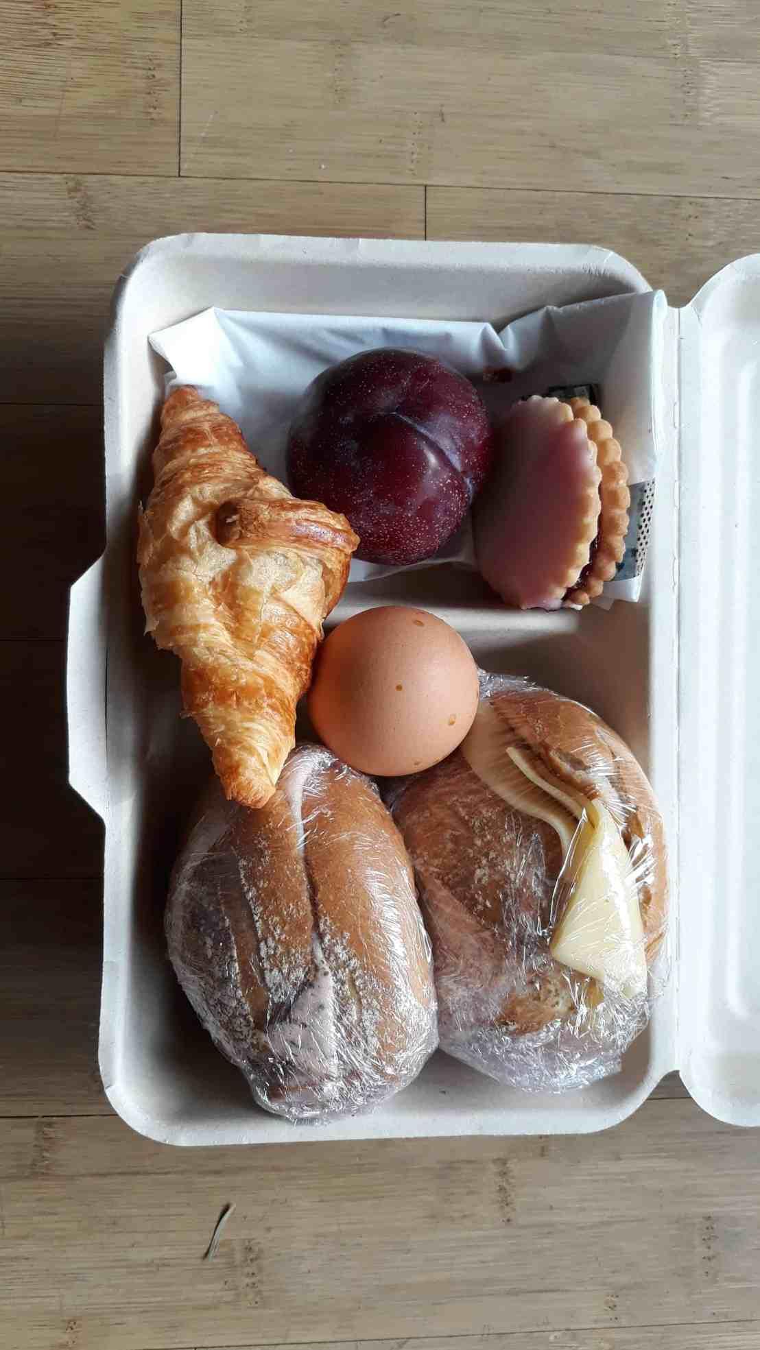 Frühstücksportion von Toogoodtogo gerettete Lebensmittel in Hamburg